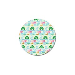 Flower Arrangements Season Sunflower Green Blue Pink Red Waves Golf Ball Marker (10 Pack)