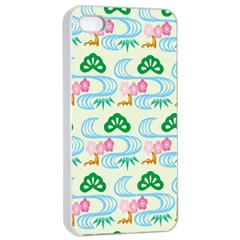 Flower Arrangements Season Sunflower Green Blue Pink Red Waves Apple Iphone 4/4s Seamless Case (white) by Alisyart