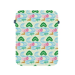 Flower Arrangements Season Sunflower Green Blue Pink Red Waves Apple Ipad 2/3/4 Protective Soft Cases