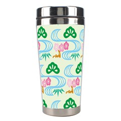Flower Arrangements Season Sunflower Green Blue Pink Red Waves Stainless Steel Travel Tumblers by Alisyart