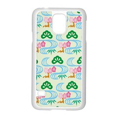 Flower Arrangements Season Sunflower Green Blue Pink Red Waves Samsung Galaxy S5 Case (white)