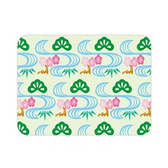 Flower Arrangements Season Sunflower Green Blue Pink Red Waves Double Sided Flano Blanket (mini)