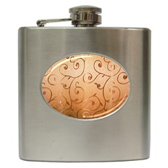 Texture Material Textile Gold Hip Flask (6 Oz) by Amaryn4rt
