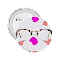 Glasses Blue Pink Brown 2 25  Buttons by Alisyart