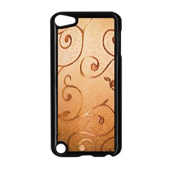 Texture Material Textile Gold Apple Ipod Touch 5 Case (black) by Amaryn4rt