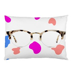 Glasses Blue Pink Brown Pillow Case by Alisyart