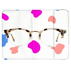 Glasses Blue Pink Brown Samsung Galaxy Tab 7  P1000 Flip Case