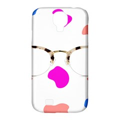 Glasses Blue Pink Brown Samsung Galaxy S4 Classic Hardshell Case (pc+silicone) by Alisyart