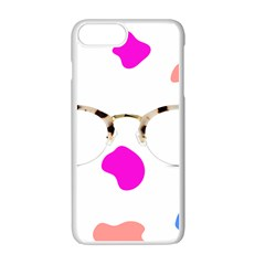 Glasses Blue Pink Brown Apple Iphone 7 Plus White Seamless Case