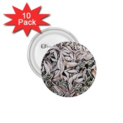 Ice Leaves Frozen Nature 1 75  Buttons (10 Pack) by Amaryn4rt