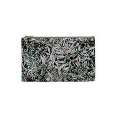 Ice Leaves Frozen Nature Cosmetic Bag (small)