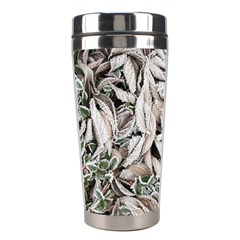 Ice Leaves Frozen Nature Stainless Steel Travel Tumblers