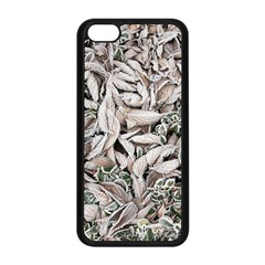 Ice Leaves Frozen Nature Apple Iphone 5c Seamless Case (black) by Amaryn4rt
