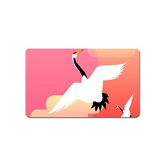 Goose Swan Pink Orange White Animals Fly Magnet (name Card)