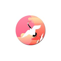 Goose Swan Pink Orange White Animals Fly Golf Ball Marker (10 Pack)