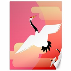 Goose Swan Pink Orange White Animals Fly Canvas 36  X 48   by Alisyart