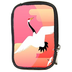 Goose Swan Pink Orange White Animals Fly Compact Camera Cases by Alisyart