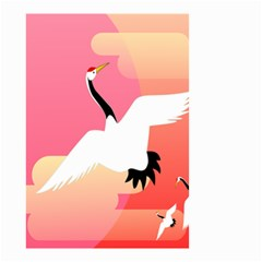 Goose Swan Pink Orange White Animals Fly Small Garden Flag (two Sides) by Alisyart