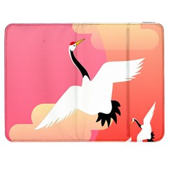 Goose Swan Pink Orange White Animals Fly Samsung Galaxy Tab 7  P1000 Flip Case