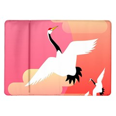 Goose Swan Pink Orange White Animals Fly Samsung Galaxy Tab 10 1  P7500 Flip Case
