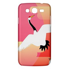 Goose Swan Pink Orange White Animals Fly Samsung Galaxy Mega 5 8 I9152 Hardshell Case