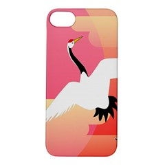 Goose Swan Pink Orange White Animals Fly Apple Iphone 5s/ Se Hardshell Case