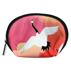 Goose Swan Pink Orange White Animals Fly Accessory Pouches (medium)