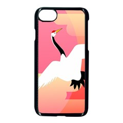 Goose Swan Pink Orange White Animals Fly Apple Iphone 7 Seamless Case (black)