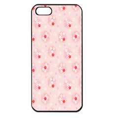 Flower Arrangements Season Pink Apple Iphone 5 Seamless Case (black)
