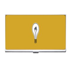 Idea Lamp White Orange Business Card Holders by Alisyart