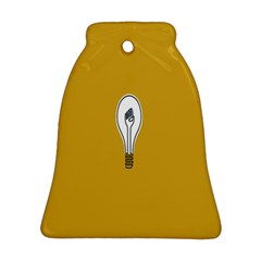 Idea Lamp White Orange Bell Ornament (two Sides)