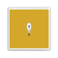 Idea Lamp White Orange Memory Card Reader (square)