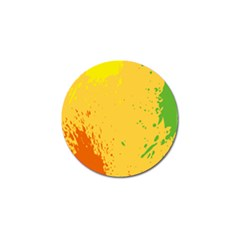 Paint Stains Spot Yellow Orange Green Golf Ball Marker (10 Pack) by Alisyart