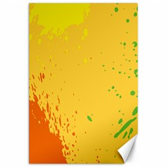 Paint Stains Spot Yellow Orange Green Canvas 20  X 30   by Alisyart