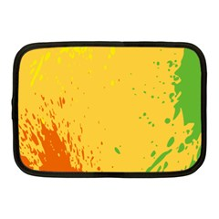Paint Stains Spot Yellow Orange Green Netbook Case (medium)  by Alisyart