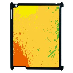 Paint Stains Spot Yellow Orange Green Apple Ipad 2 Case (black) by Alisyart