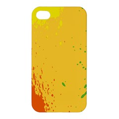 Paint Stains Spot Yellow Orange Green Apple Iphone 4/4s Hardshell Case by Alisyart