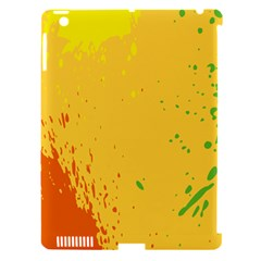 Paint Stains Spot Yellow Orange Green Apple Ipad 3/4 Hardshell Case (compatible With Smart Cover) by Alisyart