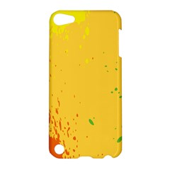 Paint Stains Spot Yellow Orange Green Apple Ipod Touch 5 Hardshell Case