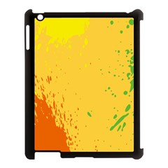 Paint Stains Spot Yellow Orange Green Apple Ipad 3/4 Case (black)