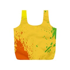 Paint Stains Spot Yellow Orange Green Full Print Recycle Bags (s)  by Alisyart
