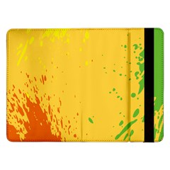 Paint Stains Spot Yellow Orange Green Samsung Galaxy Tab Pro 12 2  Flip Case
