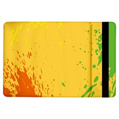 Paint Stains Spot Yellow Orange Green Ipad Air Flip