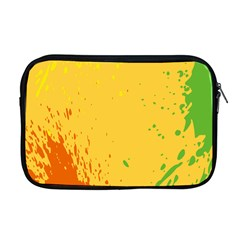 Paint Stains Spot Yellow Orange Green Apple Macbook Pro 17  Zipper Case