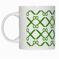 Scissor Green White Mugs