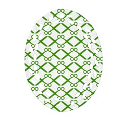 Scissor Green Oval Filigree Ornament (two Sides) by Alisyart