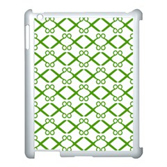 Scissor Green Apple Ipad 3/4 Case (white)