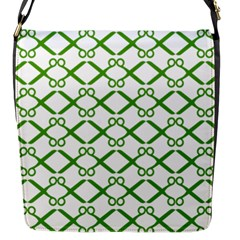 Scissor Green Flap Messenger Bag (s)