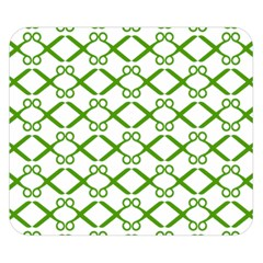 Scissor Green Double Sided Flano Blanket (small)