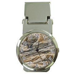 Rock Texture Background Stone Money Clip Watches